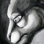 Ink Wash Felid by lantairvlea