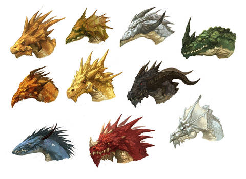 Dragon Heads by nJoo