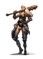 Female Barbarian by nJoo