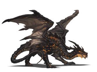 Magma Dragon by nJoo