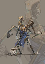 Dark and Day: Samuel the bard bot by nJoo