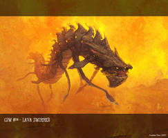 Lava Swimmer by nJoo