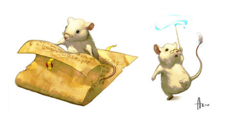 White mouse - part 2 by nJoo