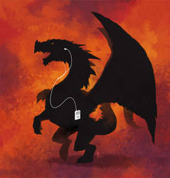 Dragon and Ipod by nJoo