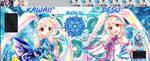 Kawaii Desu Cray Online Divas Duet Field by HeyItzArty
