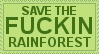 SAVE THE RAINFOREST by lgbtqia-stamps