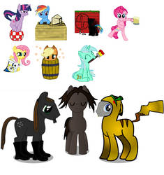 Ponies for -Party Cannon- by -DSS- by Retrobot0r-RbR