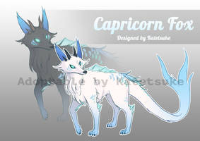 [OPEN] Adoptable Auction - Capricorn FOX by katetsuke