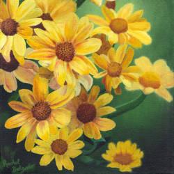 Golden Chrysanthemums by ArtistaRachel