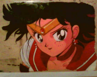 Sailor Mars Cel Art by GuardianRandyLimoges