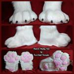 Tharon Husky Footpaws by FuzzButtFursuits