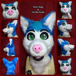 Tharon Husky Head by FuzzButtFursuits