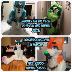 Quotes Open! Commissions Open March! by FuzzButtFursuits