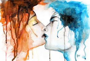 Kissing Shadows by Prestegui