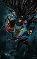 Batman and Robins by Prestegui