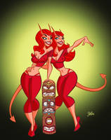 Devil Girls Night Out by jerrycarr