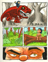 Devil Dinosaur experiment by jerrycarr