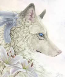 .:White Lily:. by Aviaku