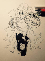 Punch Witch by JonTsuda