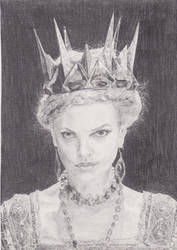 Charlize Theron as Queen Ravenna by ArdeniC