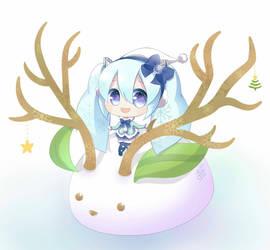 White Miku Christmas by Kiel-chan