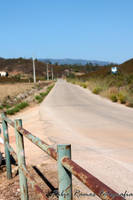 Rusty Fence and Road to nowhere by moguinho