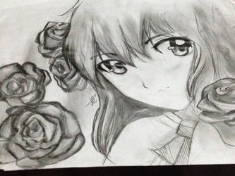 100 Themes Art Challenge ~ 7. Flower by Lady-Platypus