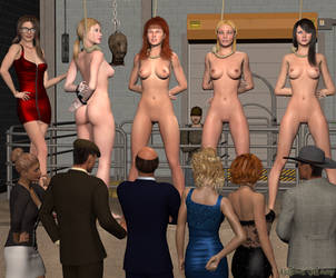 AT THE GIRL AUCTION (art by Gallows Girl Amy) by DjEtla