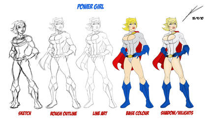 Power Girl Evolution by NoahConners