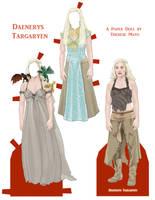 Daenerys Targaryen Paper Doll by wunderbunny0602