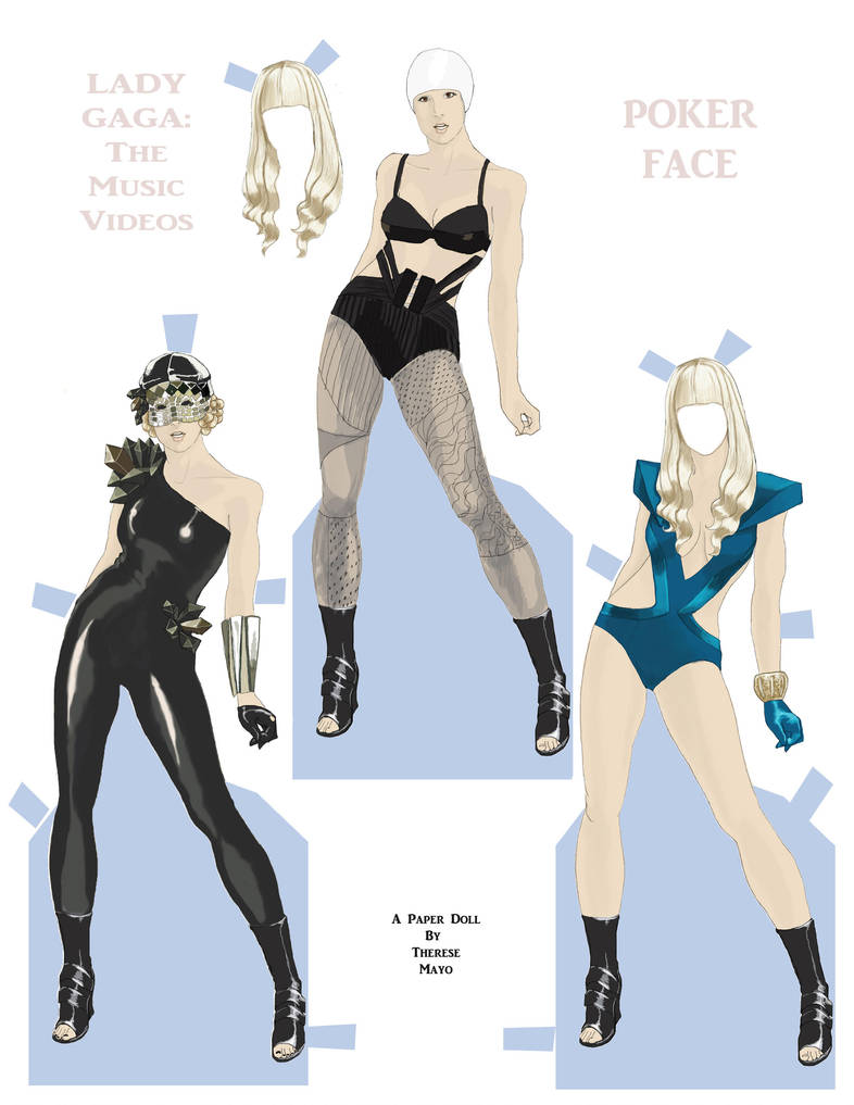 Poker Face Paper Doll by wunderbunny0602
