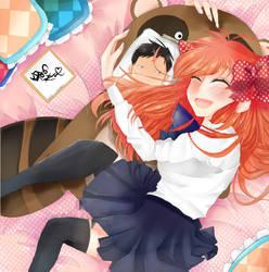 Sakura Chiyo and her...um...Nozaki-Kun by rosheruuu