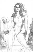 She Hulk Pencilslores by JenBroomall