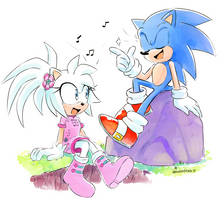 :COMM: Emra and Sonic singing by Drawloverlala