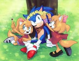 COMM: Sonic and daughters by Drawloverlala