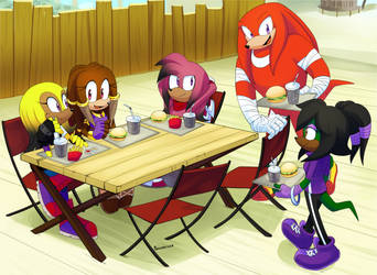 COMM: Knuckles, Sophie, Split, Minerva and Geode by Drawloverlala