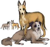 like a puppymill, i have too many dog characters by engross