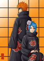 Pein and Konan by Pokefreak by Dinosaur-Ryuzako