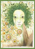 the Orange-Tree girl by sensij