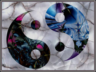 Ying-Yang on Marmor by Margot1942