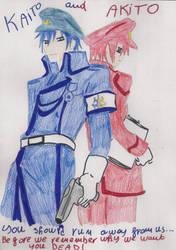 Kaito and Akito-king and prime minister of Nemesis by SarahShirabuki8000