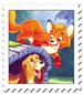 Fox and the Hound Cover Stamp by Maleficent84