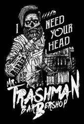 Mr Trashman Barbershop t-shirt by GrimsoulArt