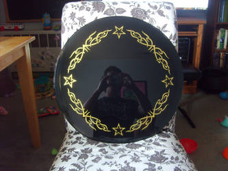 Black Scrying Mirror by pwreed
