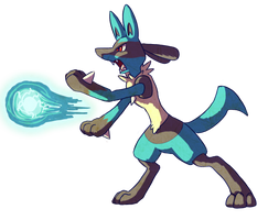 Lucario quickie by Chibi-Pika