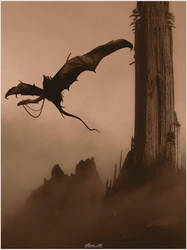 Nazgul and the Dark Tower by SHUME-1