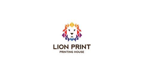 Lion Print logo by morecolor