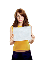 Emma Stone (Easy A) PNG by cattitudex