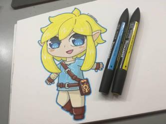 Chibi Link  by LyraNyanART