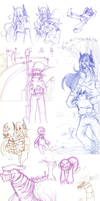 Pre-OCT: The Walking City Sketchdump by Overshadowed